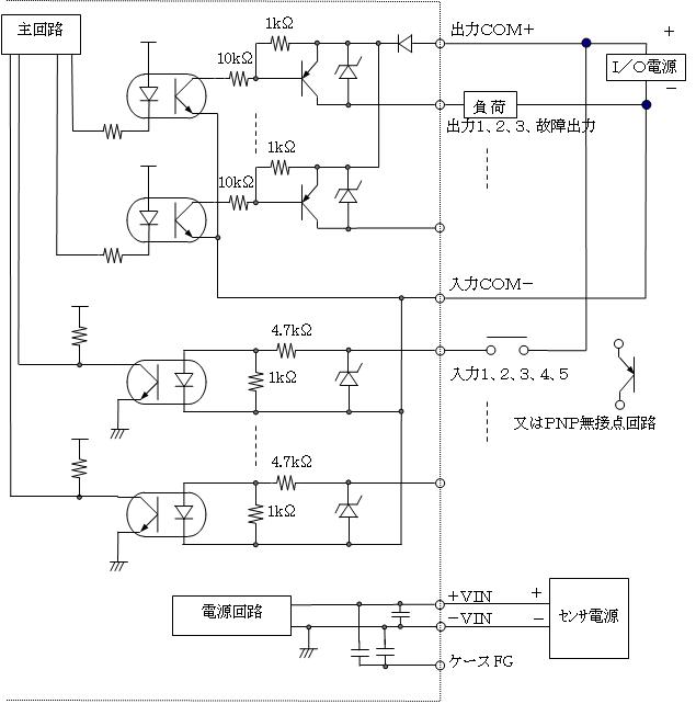 UST-30LC PNP出力タイプ入出力回路