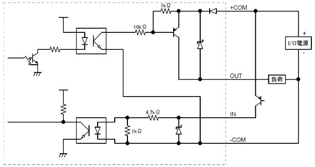 URM-40LC-EW PNP出力タイプ 入出力回路接続例