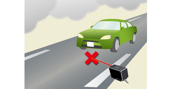 測域センサ(LiDAR) 雨での誤動作フィルタ方法