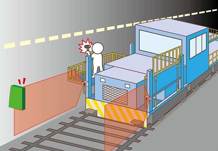 トンネル点検車両の障害物検知