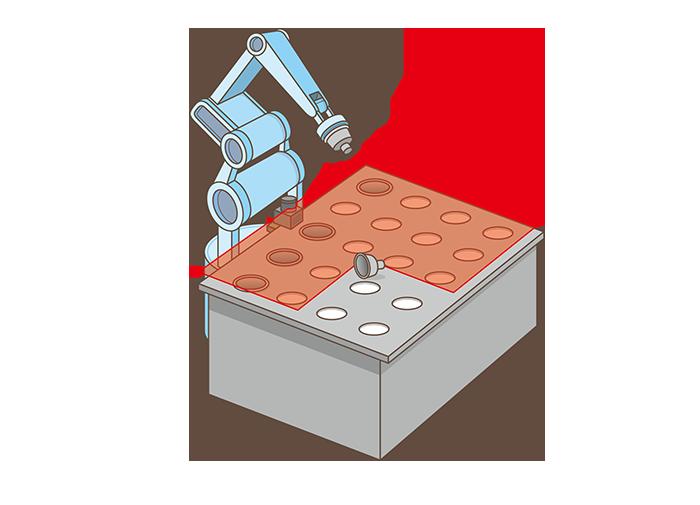 産業ロボットのワーク挿入検査