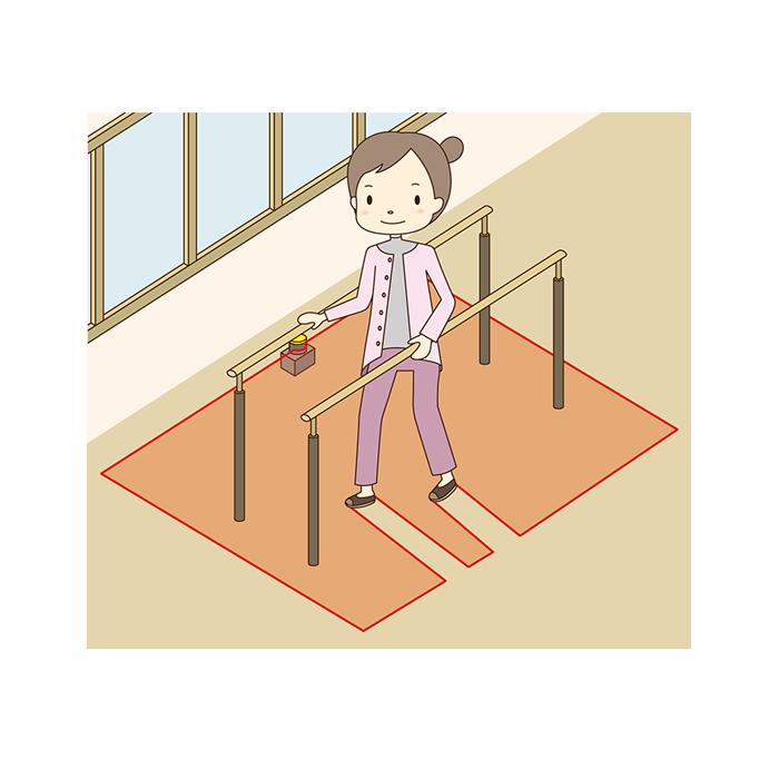理学療法 歩行訓練時の歩幅測定