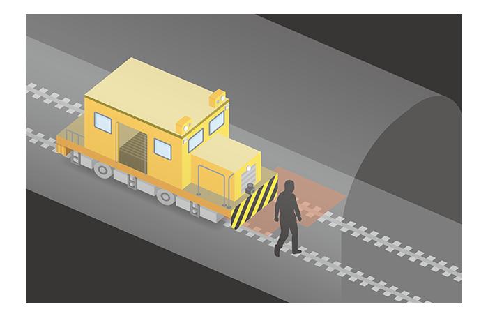 レール台車の衝突防止
