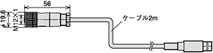 USBケーブル(別売)UZ00023