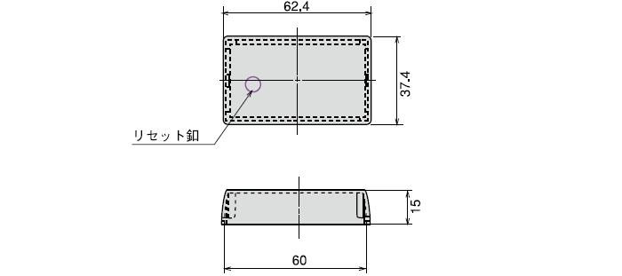CB-31 トータルカウンタ用リセット釦付防塵カバー