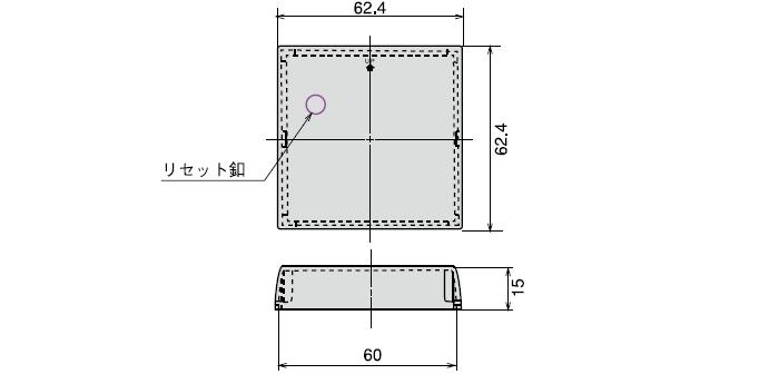 CB-32 プリセットカウンタ用リセット釦付防塵カバー