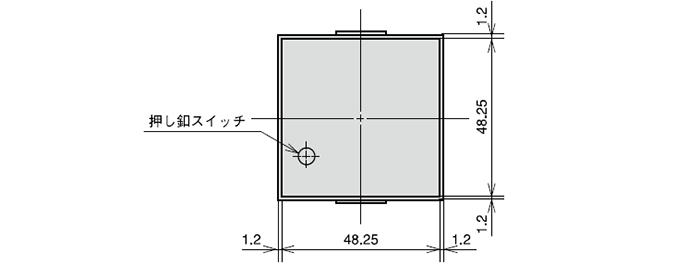 GZ00007 リセット釦付防塵カバー