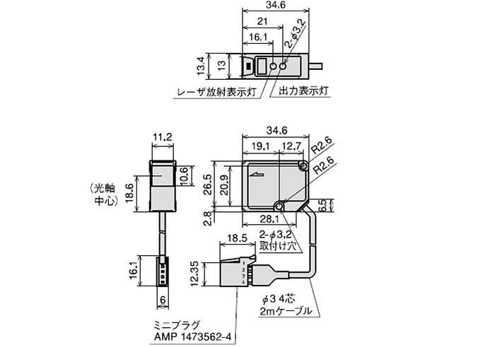 センサヘッド・JDA-70K3/305K3/08K1