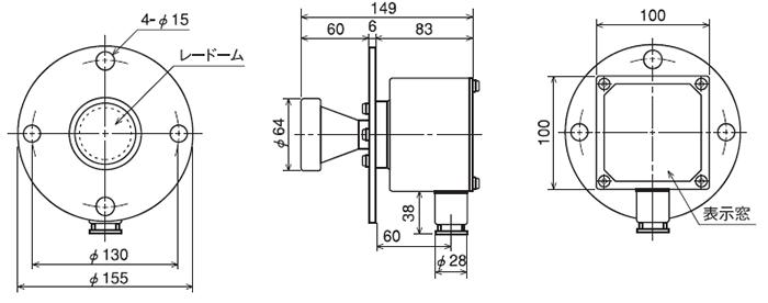 MBF-33/36標準仕様アンテナ付