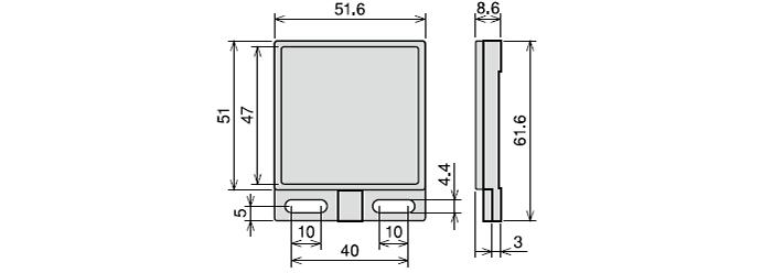 反射板 RRP-50S-V(回帰反射形に付属)