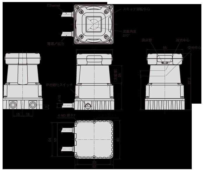 UTM-30LX-FEW外形